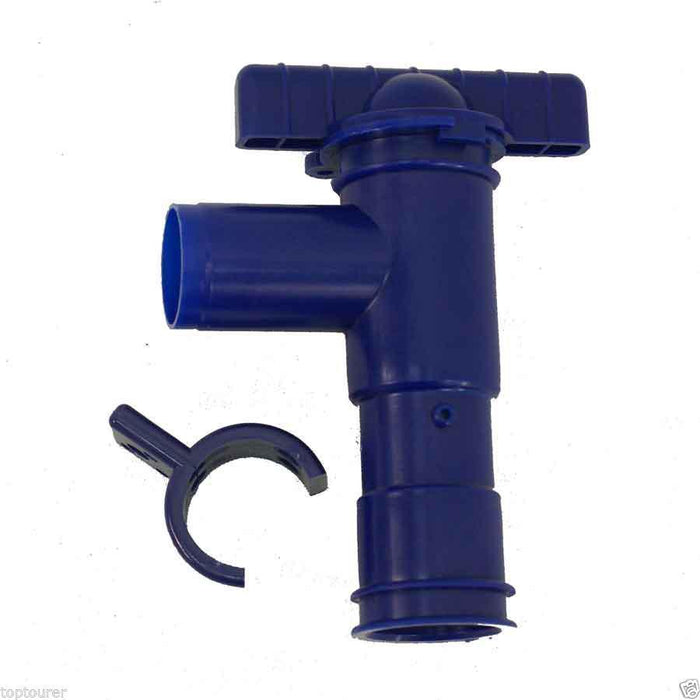 Fresh Water Drain Tap with Fixing Bracket - 28 mm- W4 00007 - Caratech Caravan Parts