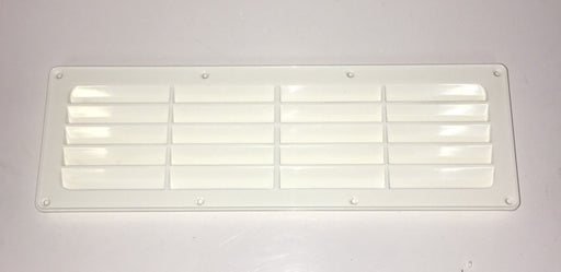 Air Vent Grill - 105 mm x 325 mm - White - 900030 - Caratech Caravan Parts