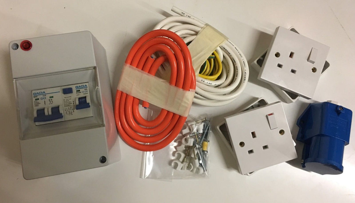 Mains Electric Hook Up 240v Full Kit - PO100 - Caratech Caravan Parts