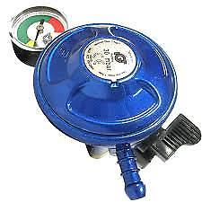 LPG Gas Regulator and Gauge – Butane - 21 mm Clip On - A100i - Caratech Caravan Parts