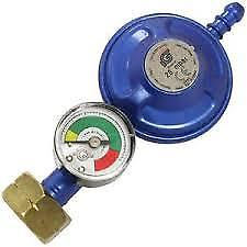 LPG Gas Regulator With Gauge – Butane 28 mbar – Screw On - Caratech Caravan Parts