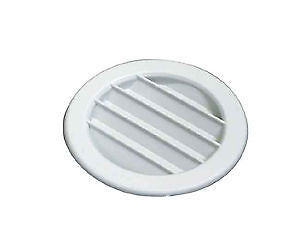 Round Side Wall Air Vent –100 mm – White - 01538T09790 - Caratech Caravan Parts