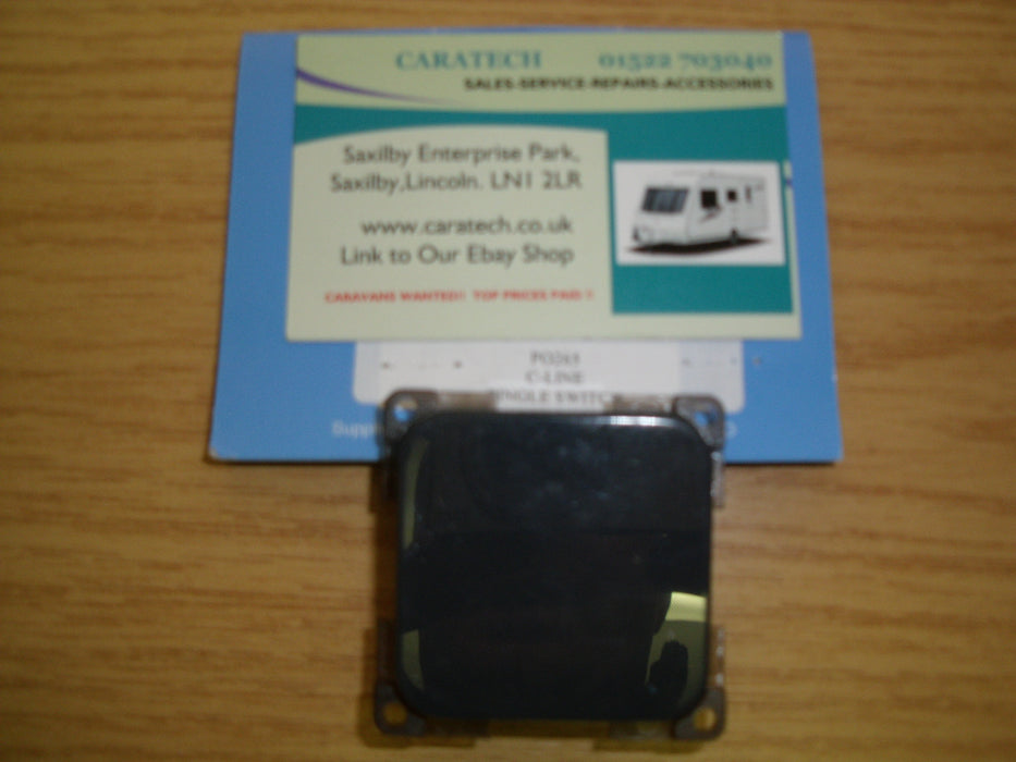 C- line - Single Light Rocker Switch -12 Volt - PO265 - Caratech Caravan Parts