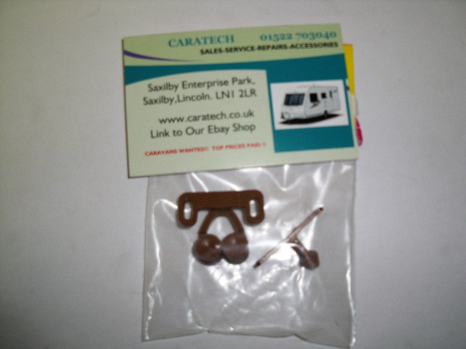 Double roller catch - brown plastic - W4 37817 - Caratech Caravan Parts