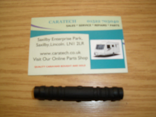 "3/8"" - 10 mm Straight Connector - Black - 81123 - Caratech Caravan Parts"