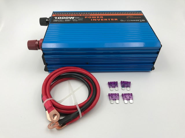 Power Inverter - 1000W - 12V DC - TF1000 - Caratech Caravan Parts
