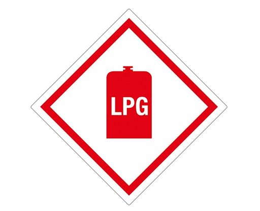 Gas Box – Self Adhesive Tufflex LPG Sticker - LPG 11 - Caratech Caravan Parts