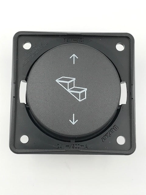 Step Switch - Round Berker Range 12v and 24v - 21237A - Caratech Caravan Parts