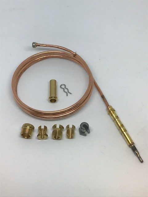 Universal Gas Thermocouple and Fitting Kit -1200 mm - 0467 - Caratech Caravan Parts