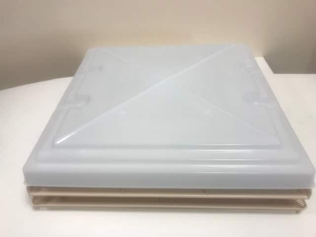 MPK 320 x 360 Roof light Complete with Flynet - Beige - 900082. - Caratech Caravan Parts