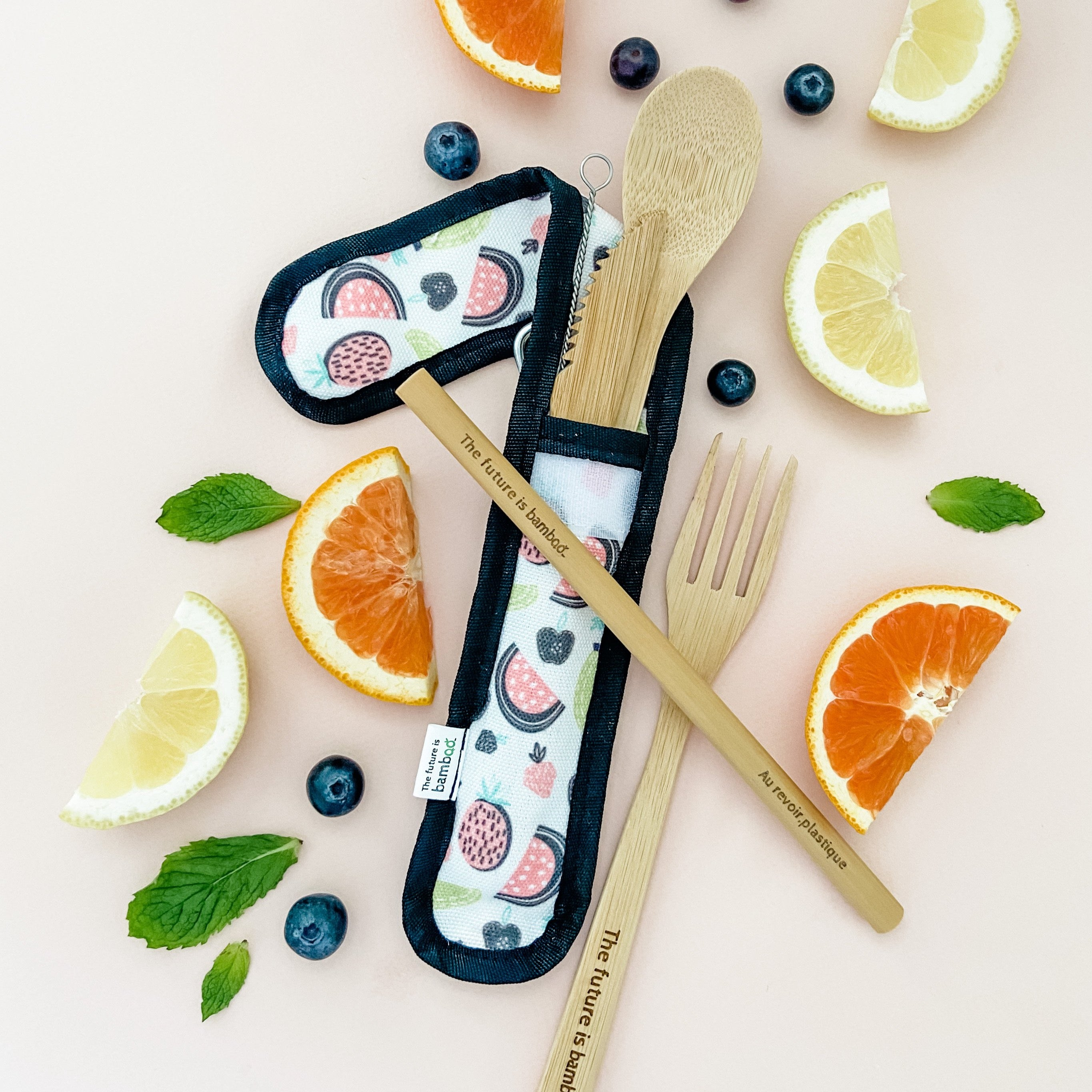 Bamboo Utensil Kit Summer Fruit
