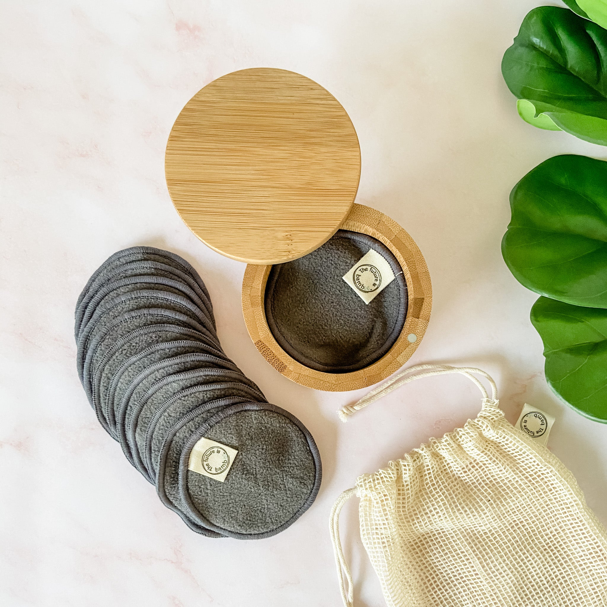 Bamboo Charcoal Facial Rounds STARTER KIT