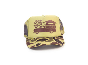 CARRY YOUR WORLD - FOAM TRUCKER HAT (Tan Camo)