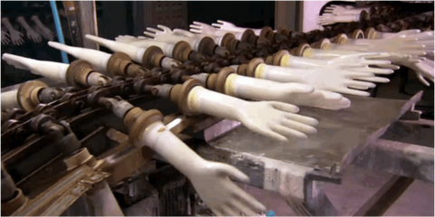 Latex glove manufacturing