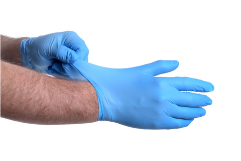 How to don a nitrile glove