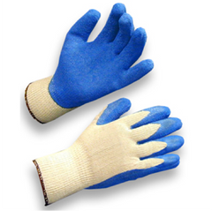 Flat dipped work gloves