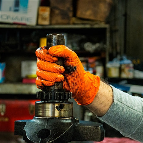 GWON 8Mil Orange Nitrile Gloves