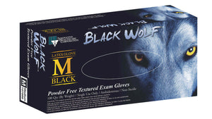 Black Wolf Latex Powder Free Exam Gloves