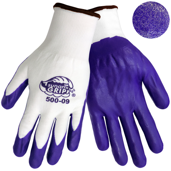 TsunamiGrip 500 Purple Nitrile Coated Work Glove