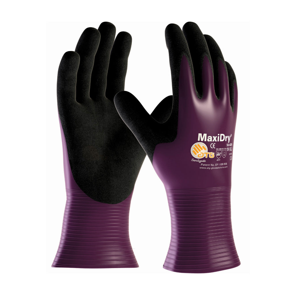 MaxiDry 56-426 liquid repellant nitilr coated glove, yourglovesource.com