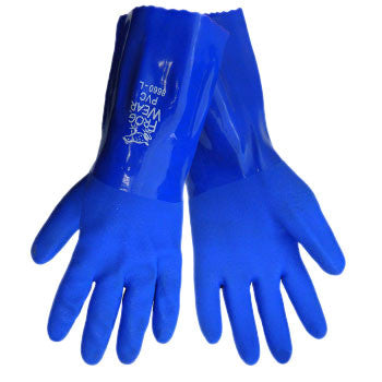 Frogwear® 8660 Water Proof Premium PVC Triple Dipped super flexible 12'' Chemical Resistant Gloves