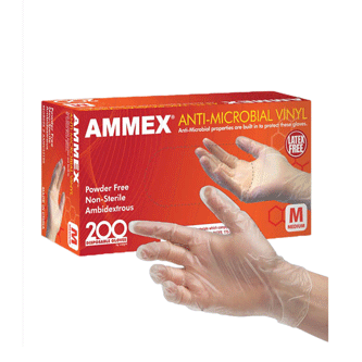 Ammex Anti Microbial Gloves