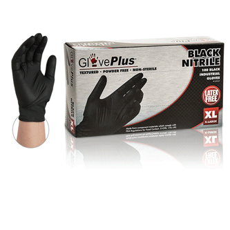 GPNB GlovePlus Black Nitrile Gloves