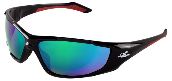 Bullhead Safety Javelin, Polarized Green Mirror Safety Glasses BH251612