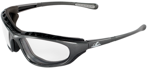 BullHead Safety Steelhead Foam Clear Lens Anti-Fog Safety Glasses BH1391AF