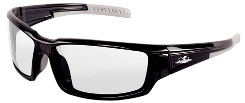 Bullhead Safety Eyewear Maki BH1431AF Crystal Black Frame Clear Anti-Fog Safety Glasses