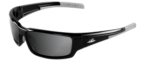 Bullhead Safety MAKI, Polarized Silver Mirror Safety Glasses BH145712