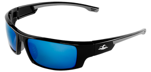Bullhead Safety Dorado, Polarized Blue Mirror Safety Glasses BH95129AF