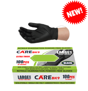 Care BK9 6 Mil Black Nitrile