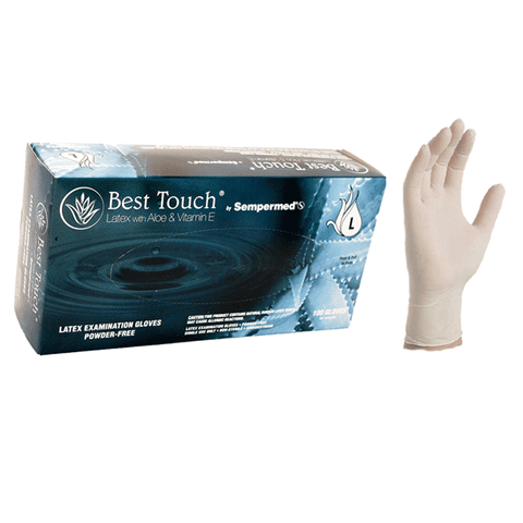 Best Touch Latex Exam Gloves With Aloe and Vitamin E