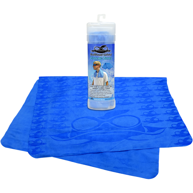 Bullhead Safety® Blue Cooling Towel