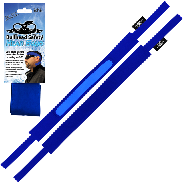 Bullhead Safety® Blue Cooling Head Band