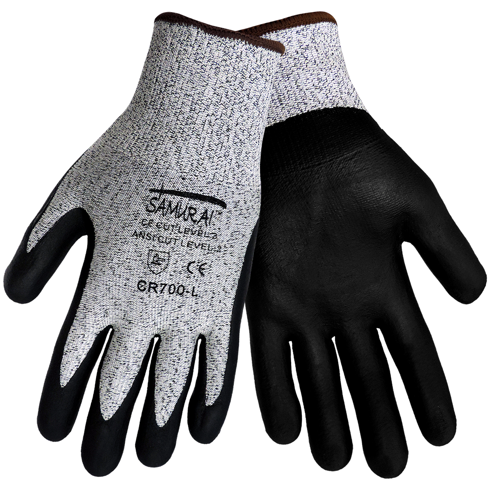 Samurai Cr700 Nitrile Grip Cut Resistant Gloves Ansi Cut