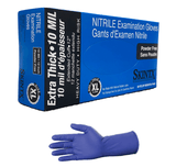 Nitrile High Risk Extra Thick 8-10 Mil Exam Gloves, Powder Free, SkinTx® by TG Medical
