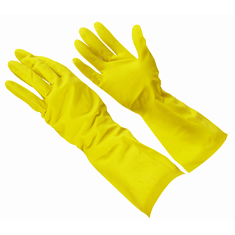 Latex Flock Lined Food Handling Dishwashing Gloves By Tg