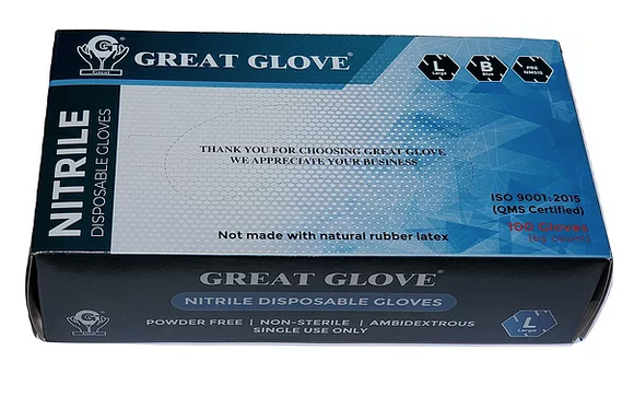 GREAT GLOVE Premium Nitrile Powder Free Gloves 5 Mil.