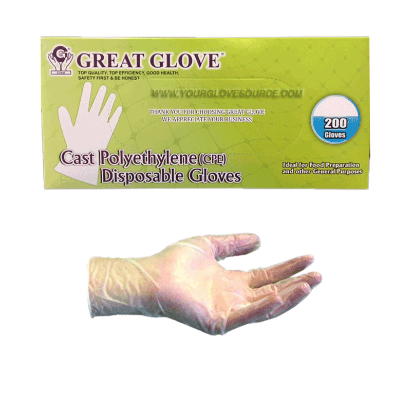 Great Glove CPE cast polyethylene gloves