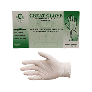 Quick Ship Lightly Powdered Latex Gloves 300 Gloves