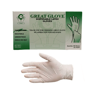 Great Glove® Latex Industrial Gloves, Powder Free 4.5 mil-Free Sample