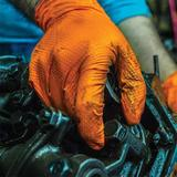 GloveWorks Heavy Duty Orange Nitrile Gloves, 8 Mil Industrial Grade, Powder Free, 100 Gloves/Box. Sold By the Case. Free Shipping!