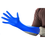 Gloveworks GWRBN Heavy Duty 6 Mil Royal Blue Nitrile Gloves, Industrial Grade