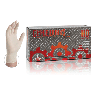 Gloveworks® Latex Exam Gloves, Powder Free, ILHD 8Mil  by Ammex-Sample