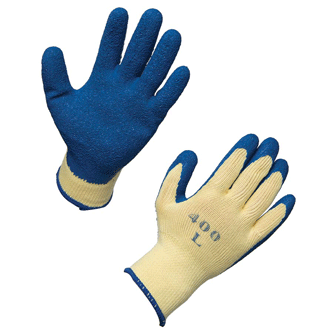 Latex Dipped String Knit Work Gloves.