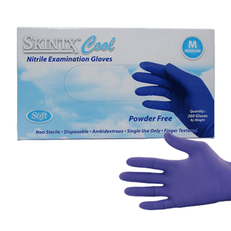 Cool Blue Nitrile Exam Gloves