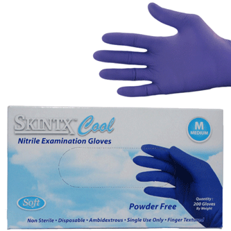 Nitrile Exam Gloves Powder Free Skintx 174 Cool Blue By Tg