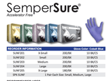 SemperSure® Accelerator Free, Powder Free Nitrile Exam Gloves